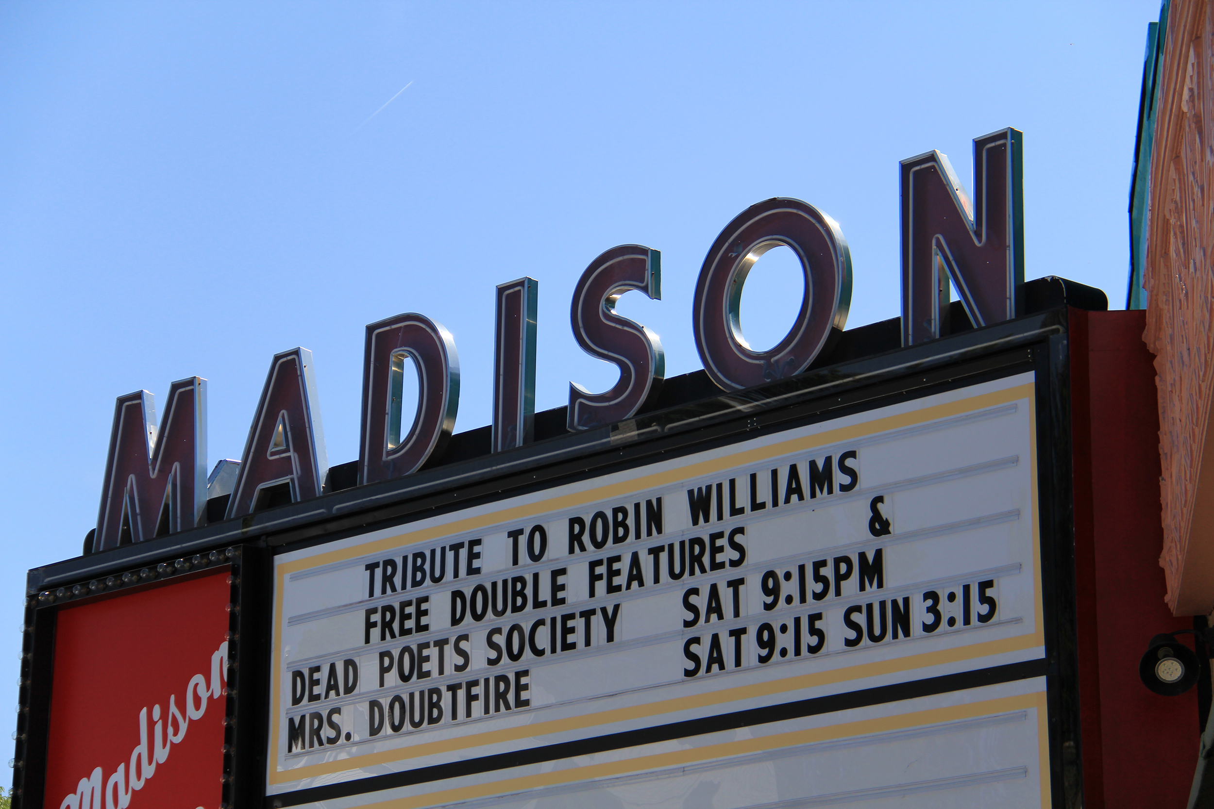 Madison Theatre marquee