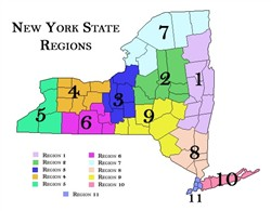 NYS School District Region Map