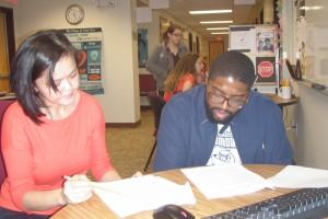 Student Tutoring in Writing Center