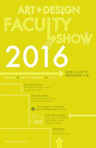 Art & Design Faculty Show 2016