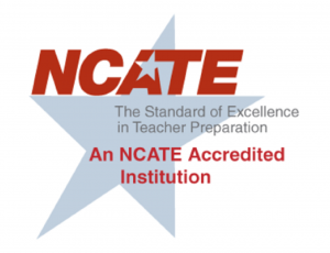 NCATE Accredited Institution Badge