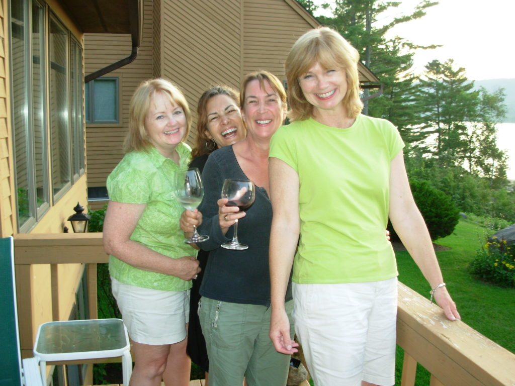 Elizabeth Miller continues to stay close with several of her friends from Saint Rose. From left to right: Jane (MacDonald) Wolfgang '76, Judy (Falcone) Miller '76, Sharon (Thombs) Miller '76, and Elizabeth Miller '76 G'77.