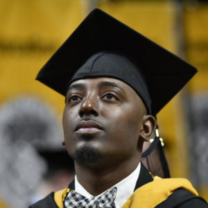 Student at the 2017 Commencement