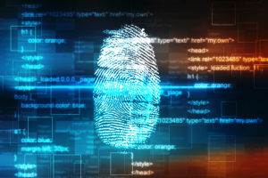 finger print being analyzed