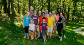 Ellen Cray with family