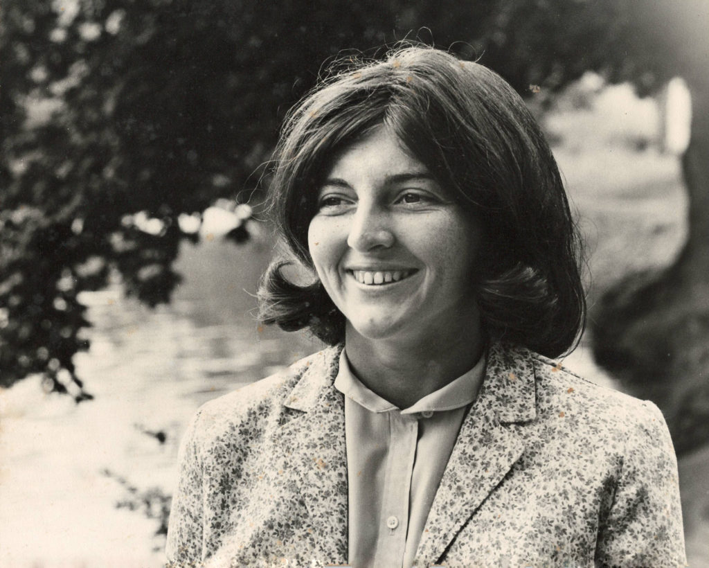 Dr. Patricia Fox as a college student