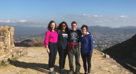 Guadalupe Chavez on trip to Monte Albán--a Zapotec archaeological site in the Southern state of Oaxaca with friends who are also American Fulbrighters studying in Mexico City.