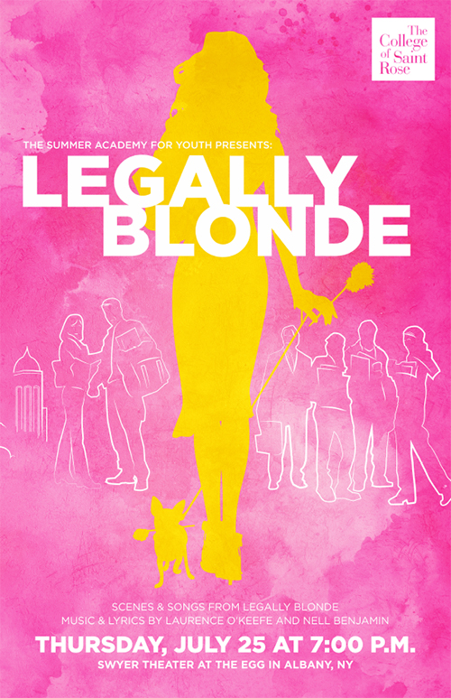 The Summer Academy for Youth Presents: Legally Blonde, scenes and songs from Legally Blonde, Music and Lyrics by Laurence O'Keefe and Nell Benjamin Thursday, July 25 at 7:00 PM Swyer Theater At the Egg in Albany, NY
