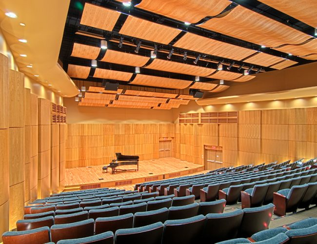 Massry Picotte Recital Hall Stage