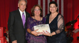 Cheryl Hage-Perez at awards ceremony