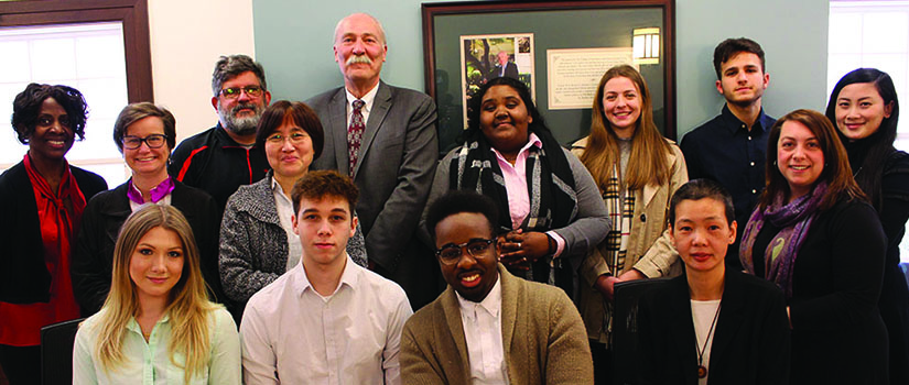 The 2019 Ruggiero Honors Scholars with faculty at Saint Rose