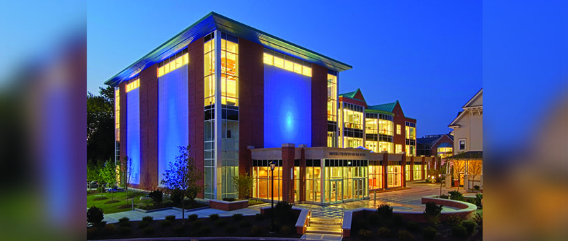 Massry Center for the Arts at night