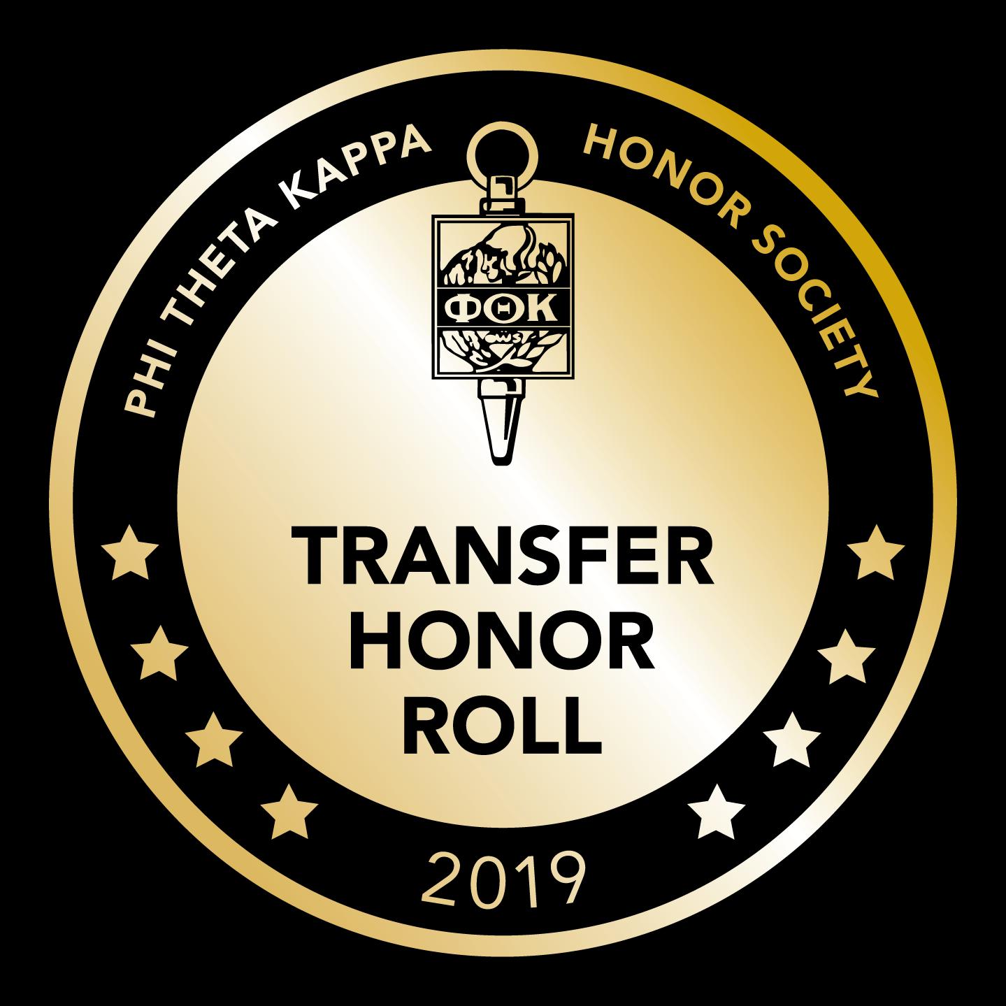 Phi Theta Kappa Transfer Honor Roll 2019