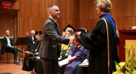 School of Education student receives award from Dean Ward at Honors Convocation
