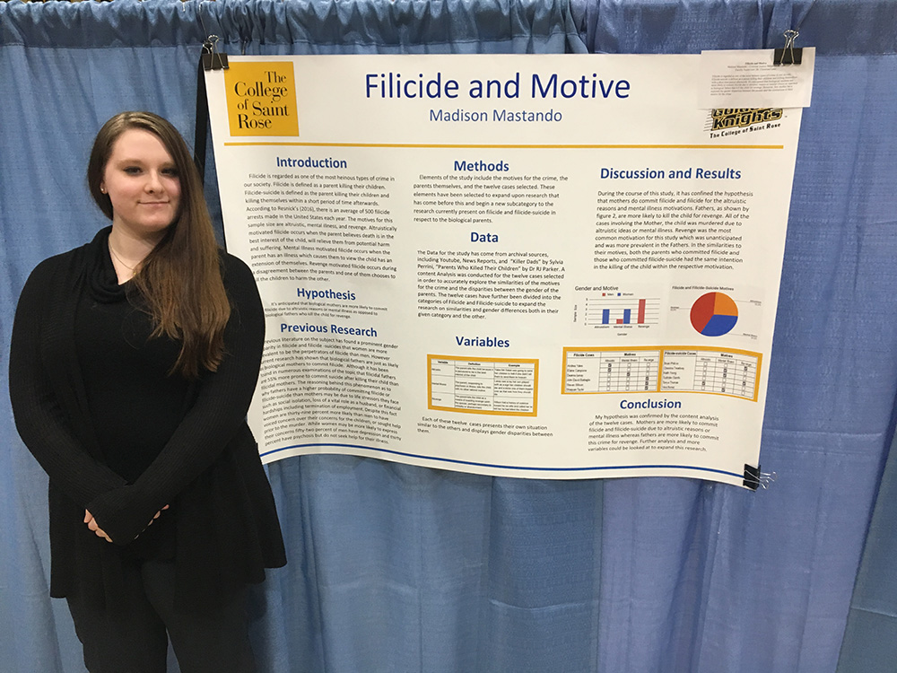 Criminal Justice Behavior & Law Madison Mastando with her project