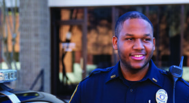 Brian Xavier Willis '15, a Saint Rose graduate and police officer in the metro Atlanta area