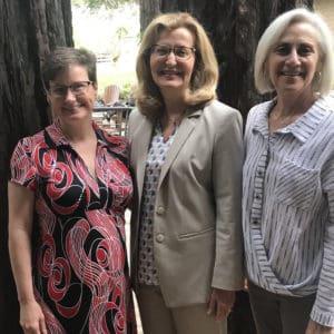 Saint Rose Chief of Staff Lisa Haley Thomson, Saint Rose President Carolyn J. Stefanco, and International Leadership Association President and CEO Cynthia Cherrey