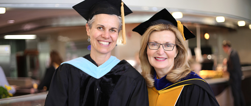 Dr. Drey Martone with Saint Rose President Carolyn J. Stefanco