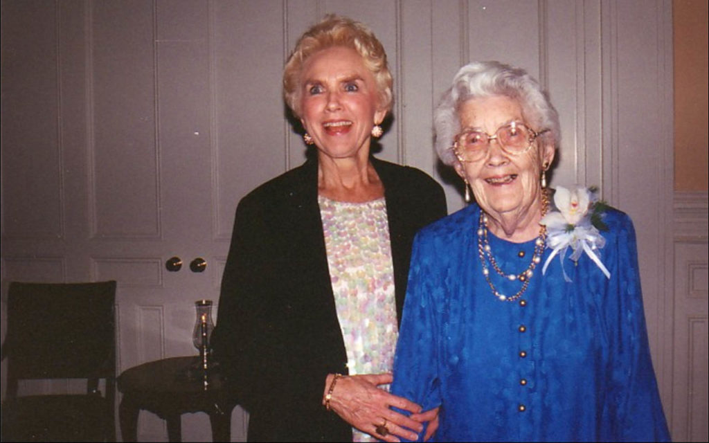 Sister Rose Regina Smith '50, G'90, CSJ, with her mother, Ursula R. Casey Smith '24