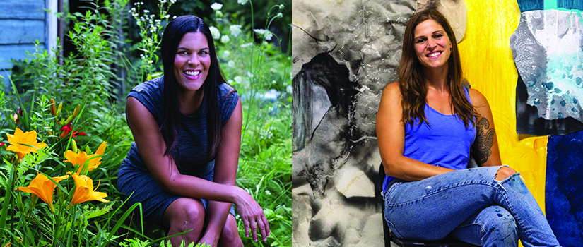 Saint Rose art alums Daesha Devón Harris '02 and Rachel Baxter '11