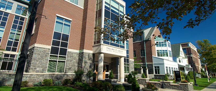 Exterior of the Thelma P. Lally School of Education