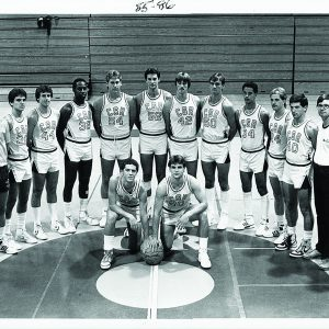 Saint Rose men's basketball team in the mid 1980s