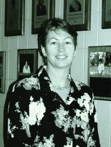Cathy Haker at Saint Rose in the 1980s
