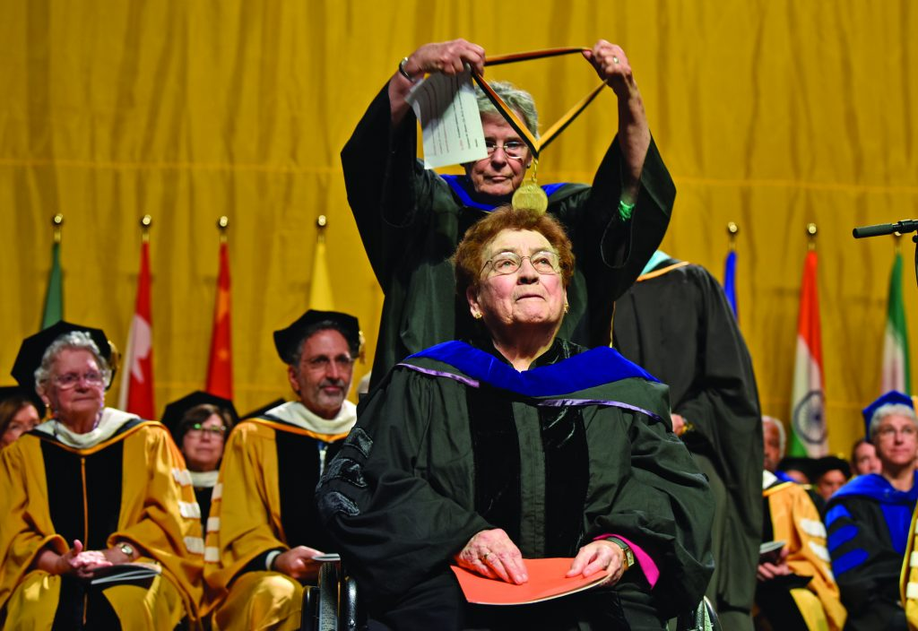 Sister Charleen Bloom at commencement