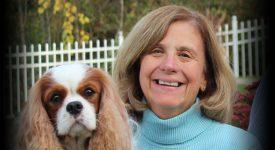 Greta K. Smith with her dog
