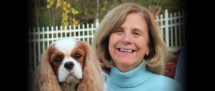 Greta K. Smith with dog