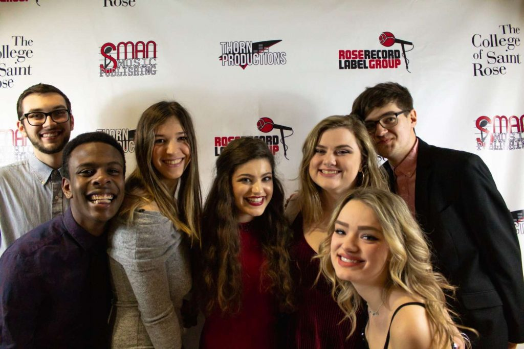 Students attending the Rose Record Label Gala in 2019