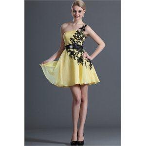 63758a8009d Robe cocktail courte jaune – Modèles populaires de robes