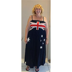 Maxi dress formal australia flag