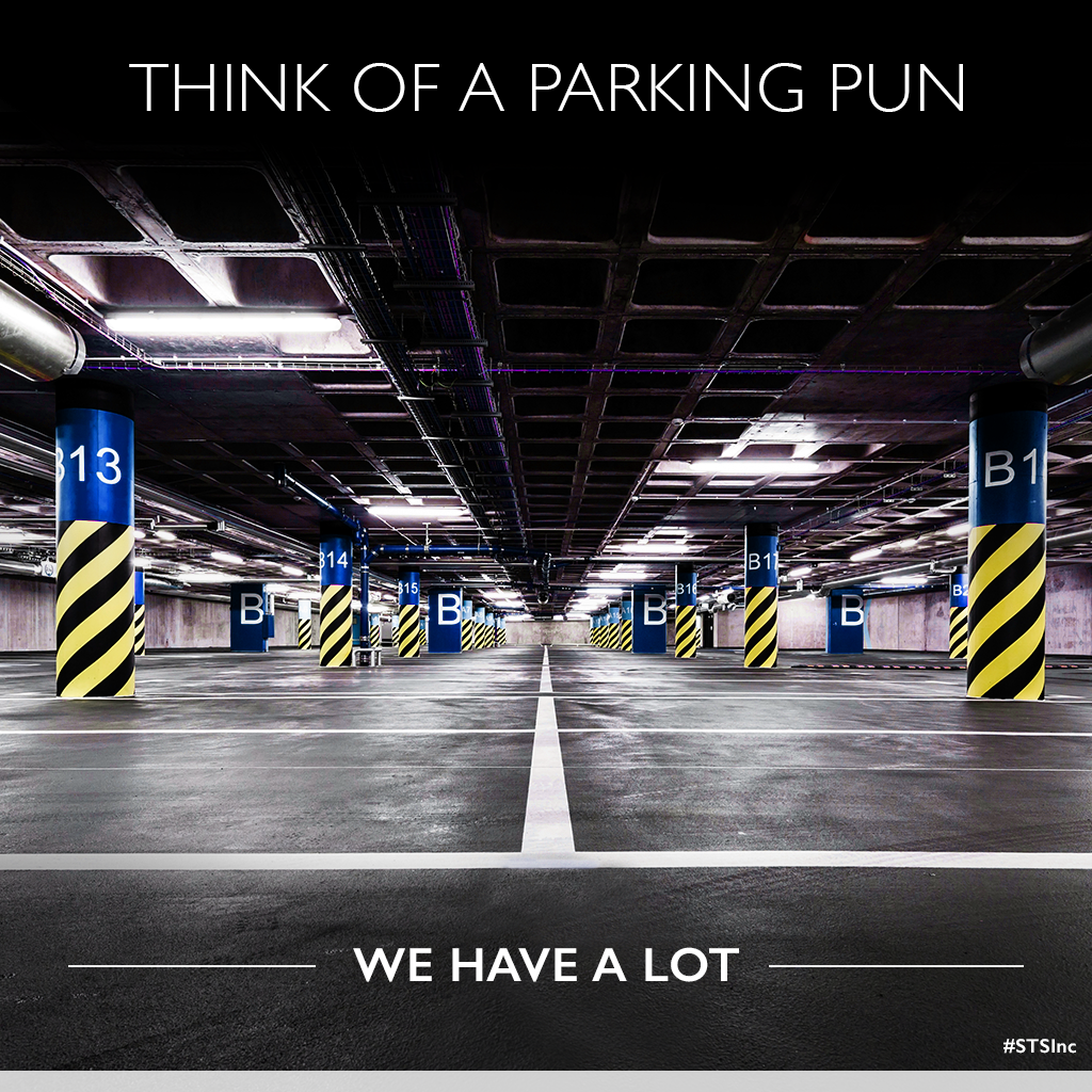 Think of a parking pun.