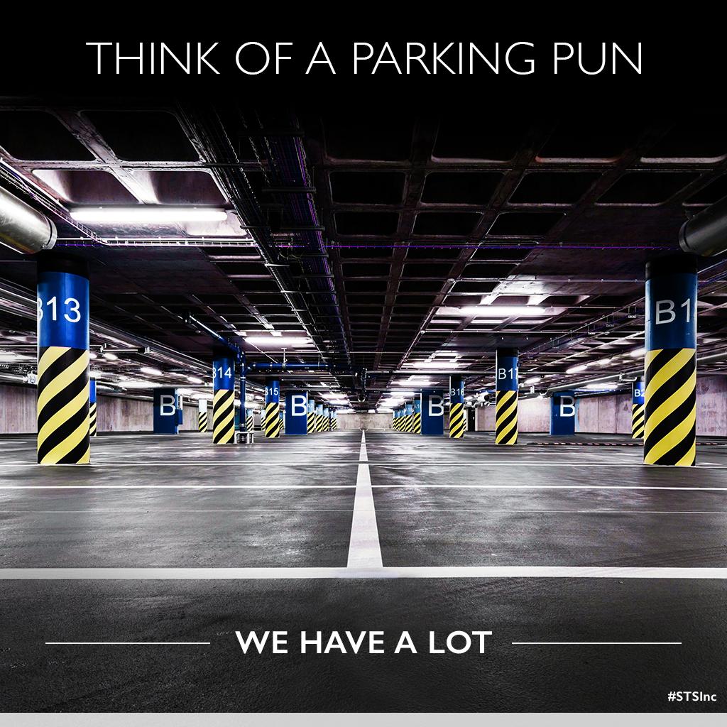 Think of a parking pun.