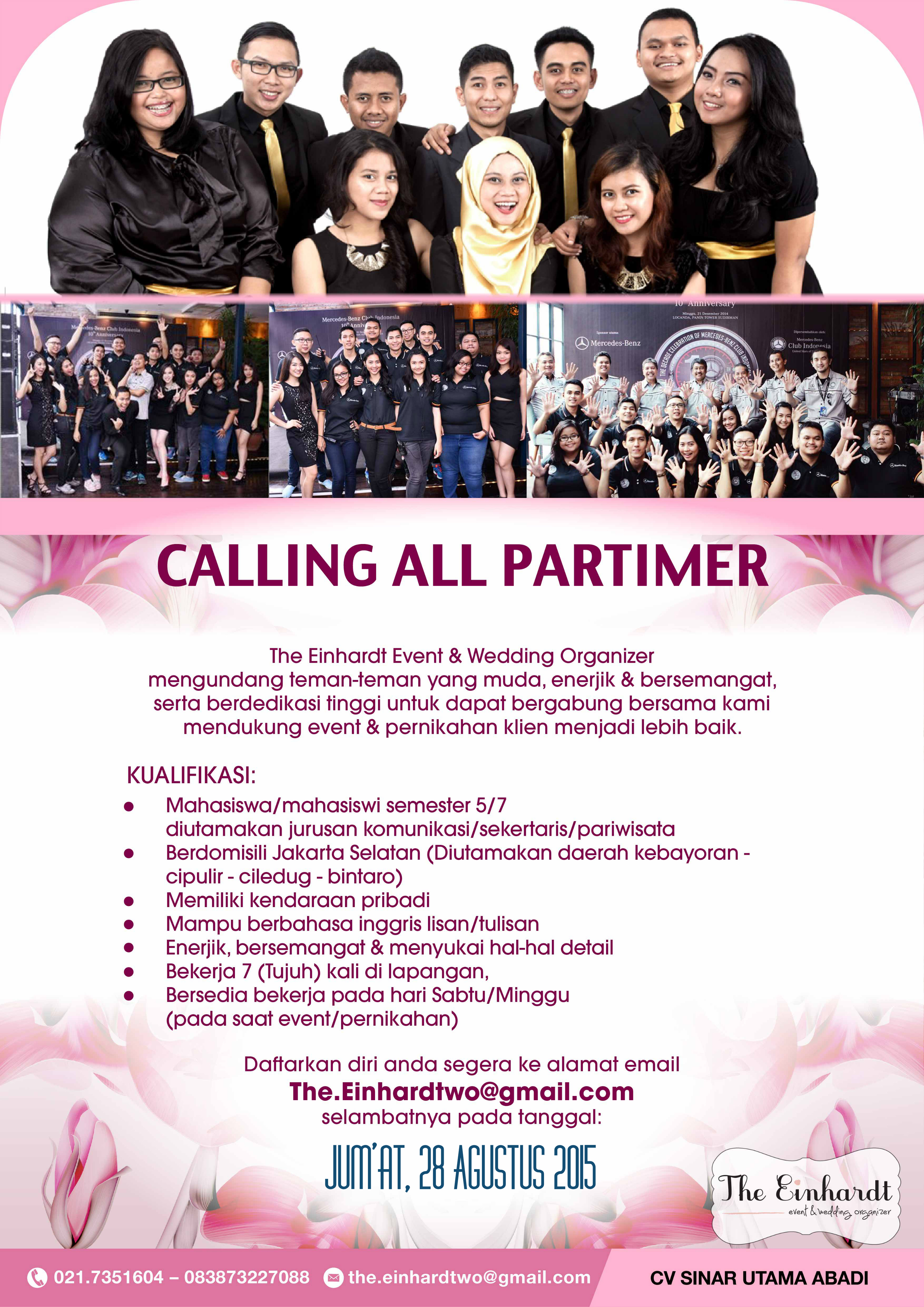 Part Time Event Organizer Studentjob Indonesia
