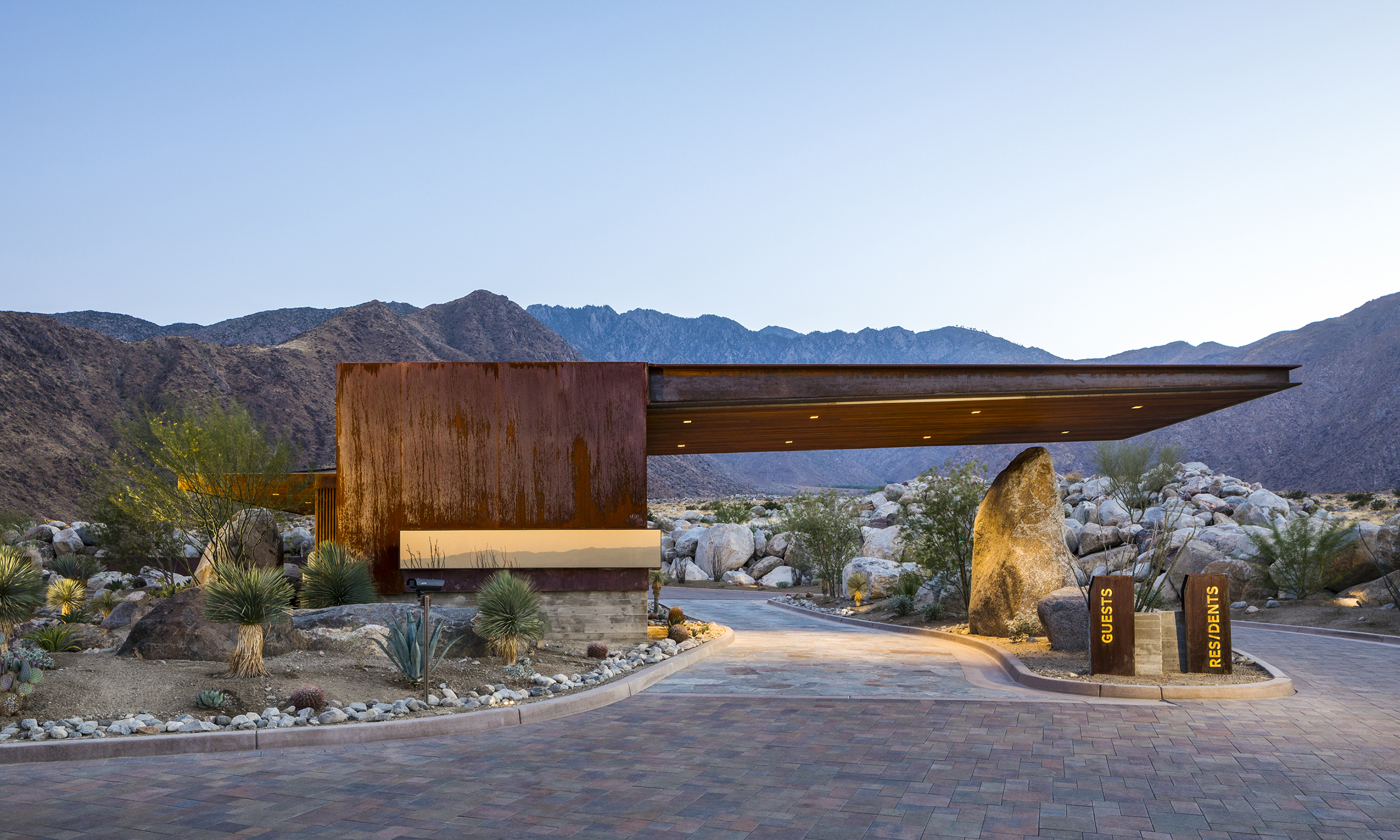 Dp Architects Desert Palisades Guardhouse Project By Studio Ar Amp D