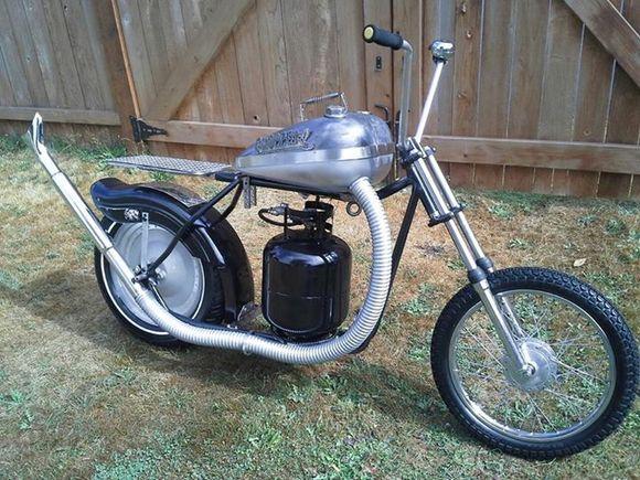 chopper-q bbq motorcycle
