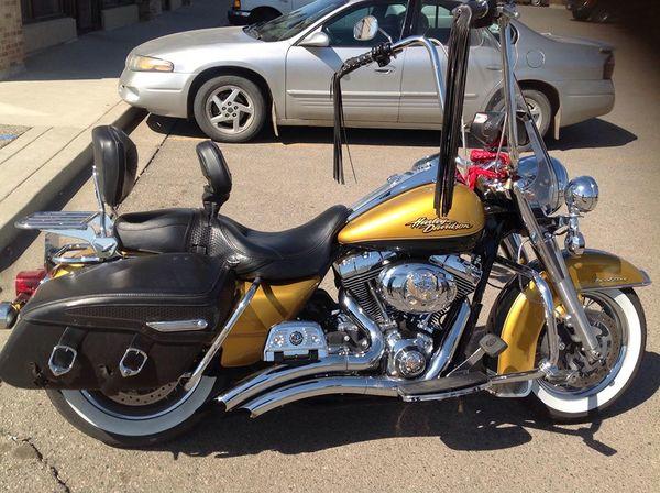 golden motorcycle