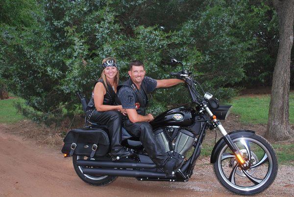 bikers on motorcycle