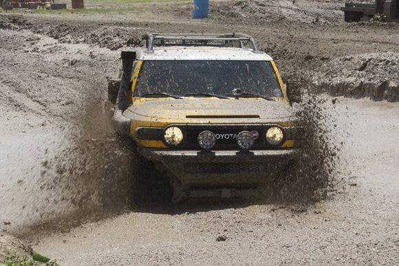 toyota in mud