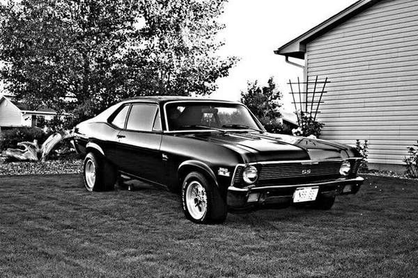 american muscle black and white