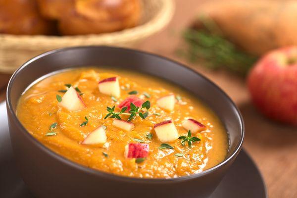Vegetarian Recipe: Creamy Sweet Potato Soup