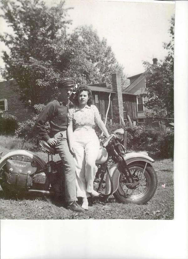 vintage biker girl
