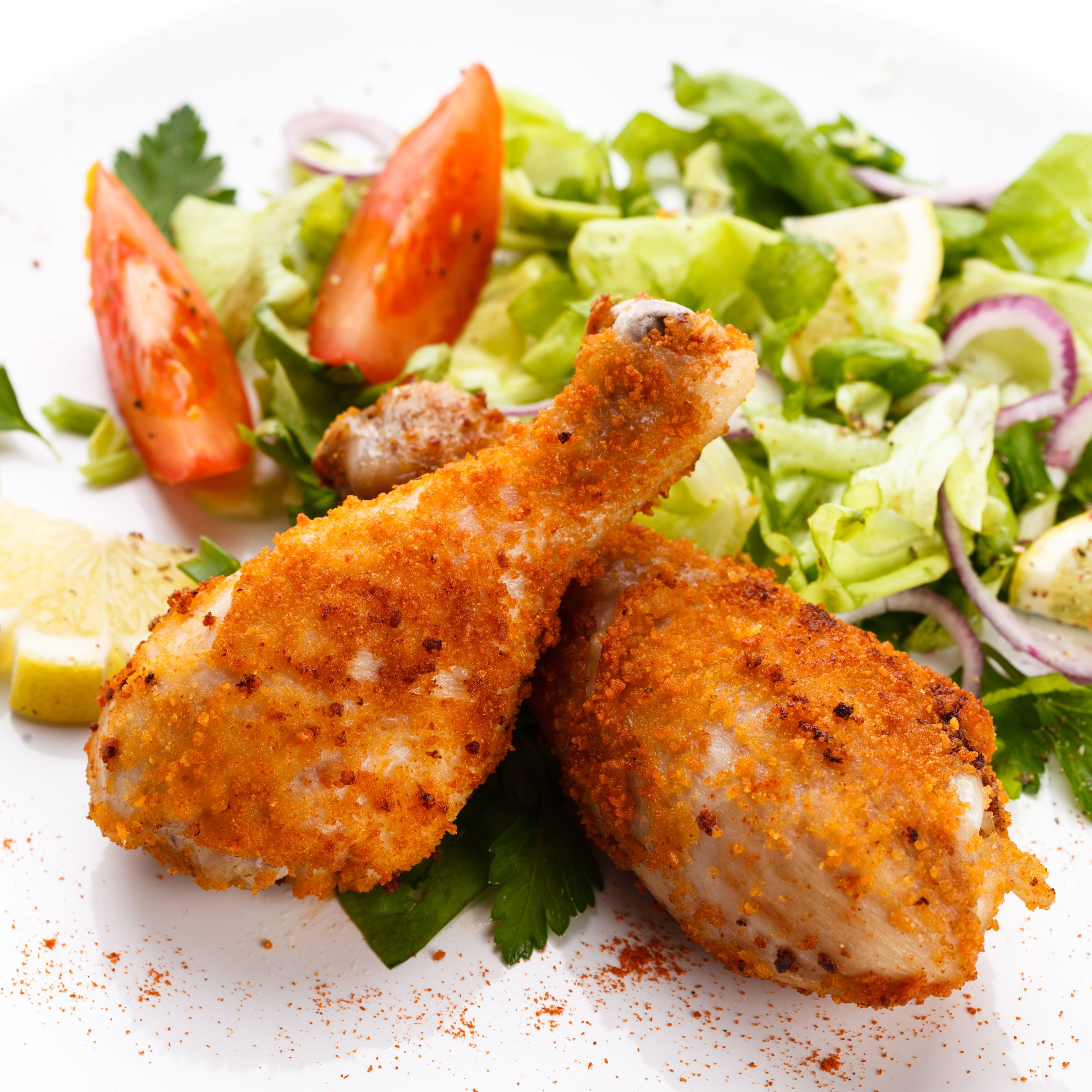 Simple Comfort Food: Breaded & Baked Chicken Drumsticks