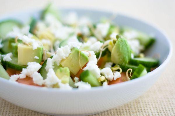 Light & Delicious Avocado and Feta Salad