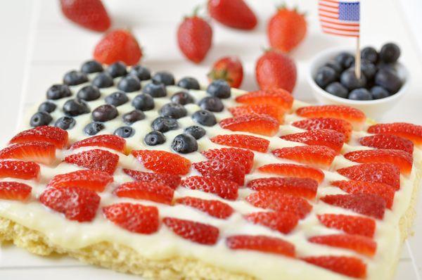 Red, White & Blue: Festive Berry Cake