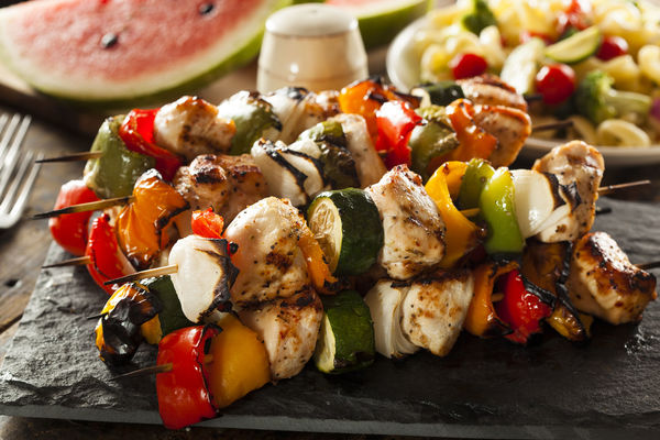 Grill Recipe: Honey-Marinated Chicken Kebabs