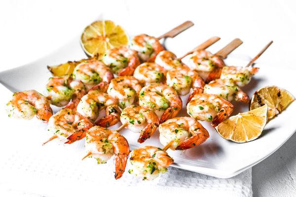 Seafood Recipe: Grilled Pesto Shrimp