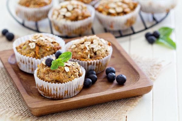 Vegan Recipe: Banana Carrot Muffins